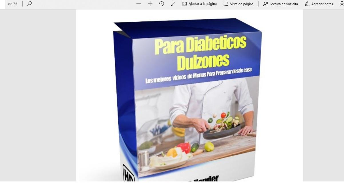 Nueva Guia con los mejores menu para diabeticos