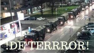 VIDEO: convoy de la muerte' traslada a otras ATAUDES hacia otras ciudades porque bergamo ya no puede cremar