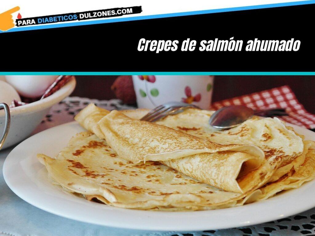 Crepes de salmón ahumado