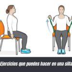 Ejercicios que puedes hacer en una silla