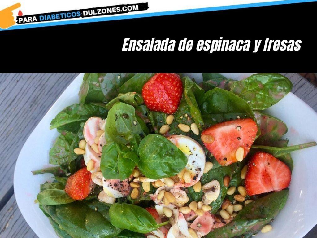 Ensalada de espinaca con fresas