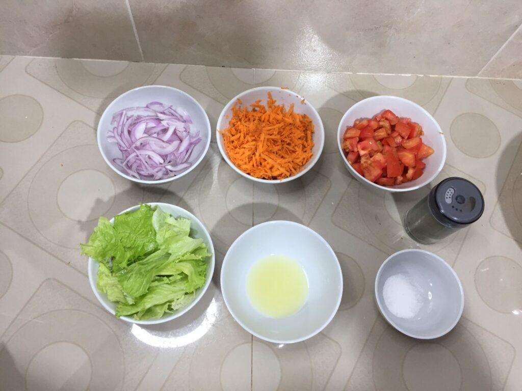 ensalada de col y zanahora